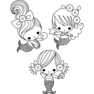 Mermaid Coloring In Pages Coloring Pages