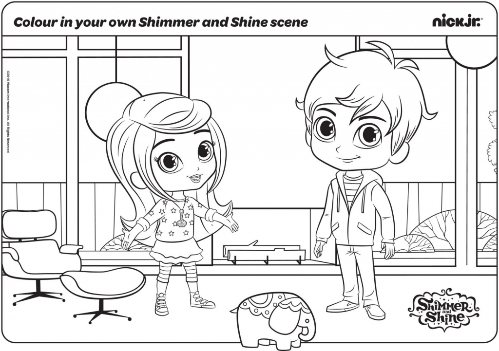 Leah And Zac In Their Original Form Shimmer and Shine Coloring Pages