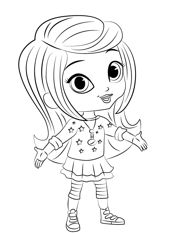 Shimmer and Shine Coloring Pages Leah