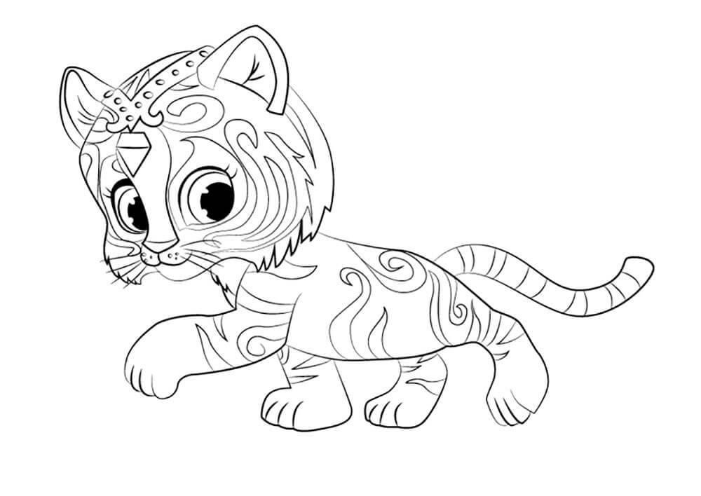 Nahal From Shimmer And Shine Coloring Page