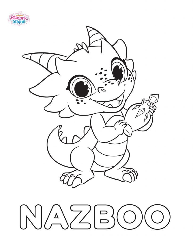 Nazboo From Shimmer And Shine Coloring Page