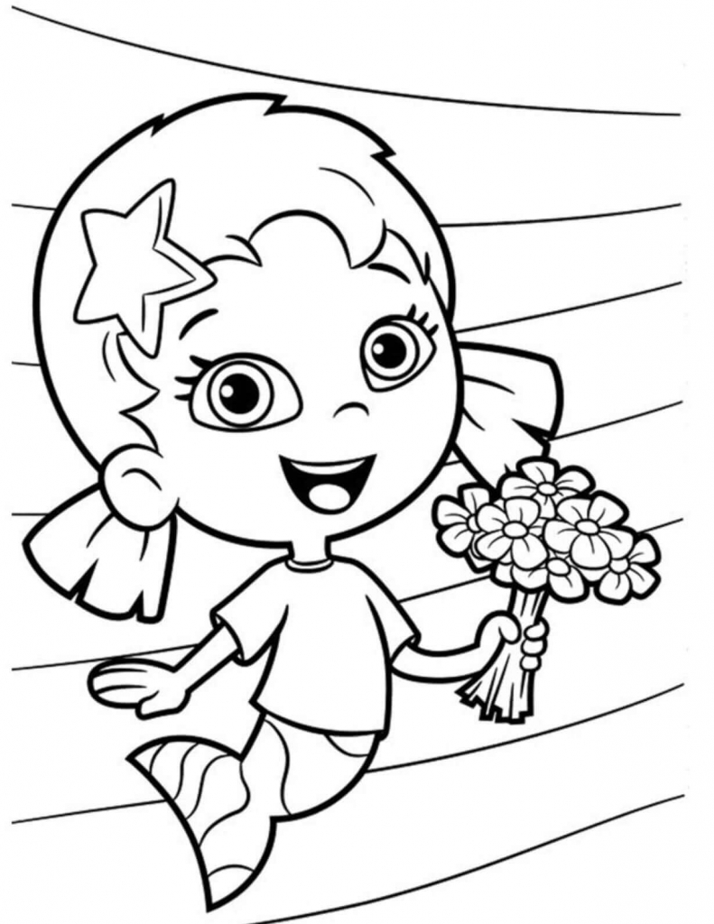 Oona From Bubble Guppies Coloring Page
