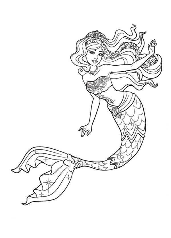 mermaid kids coloring pages - photo#33