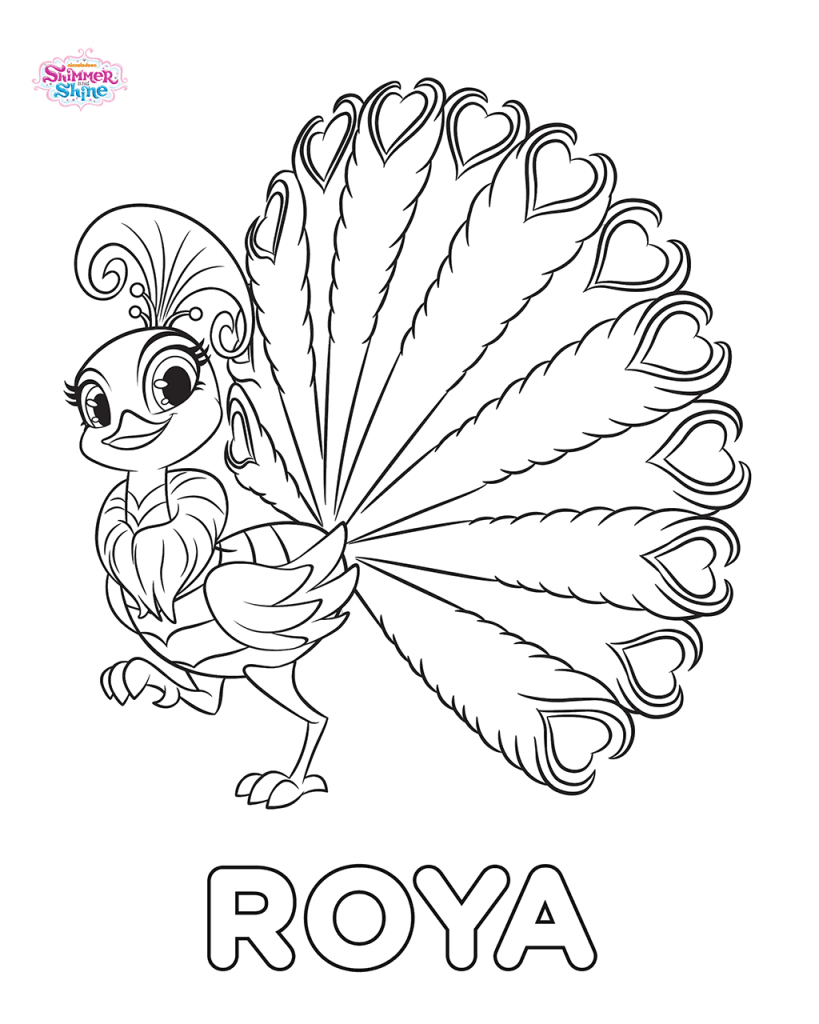 Shimmer and Shine Coloring Pages Roya