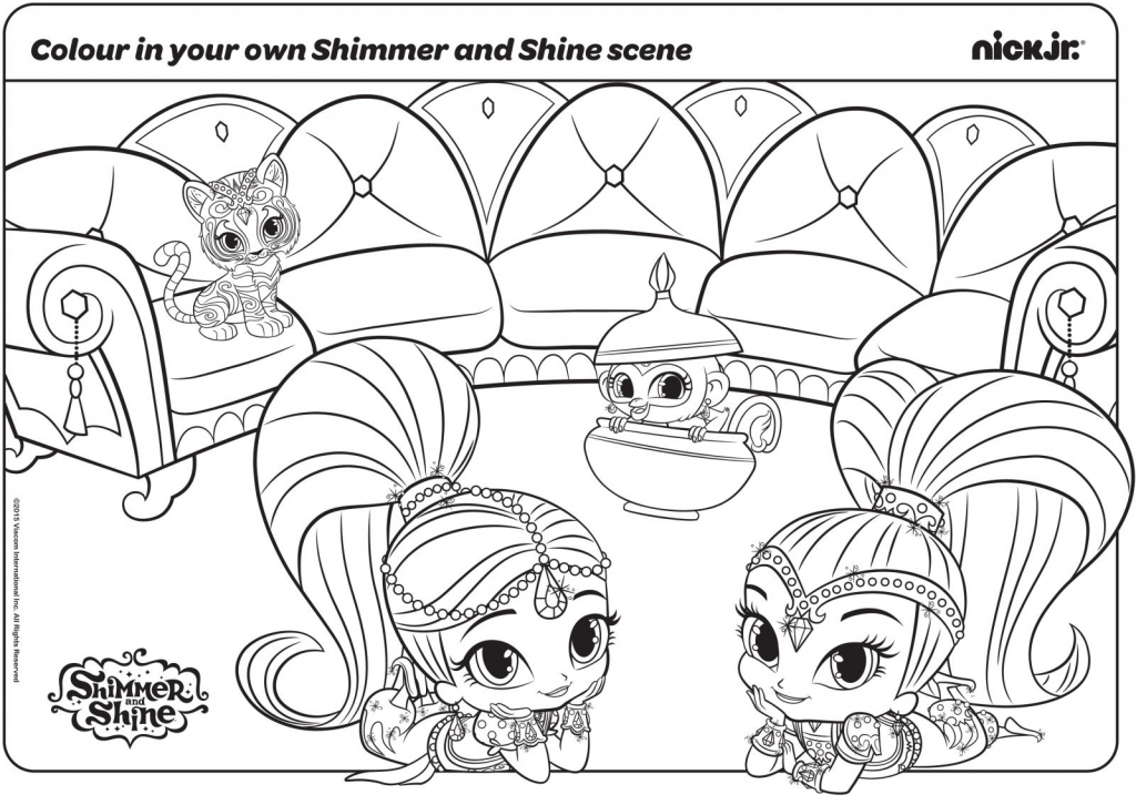 Shimmer And Shine Coloring Pages Pets