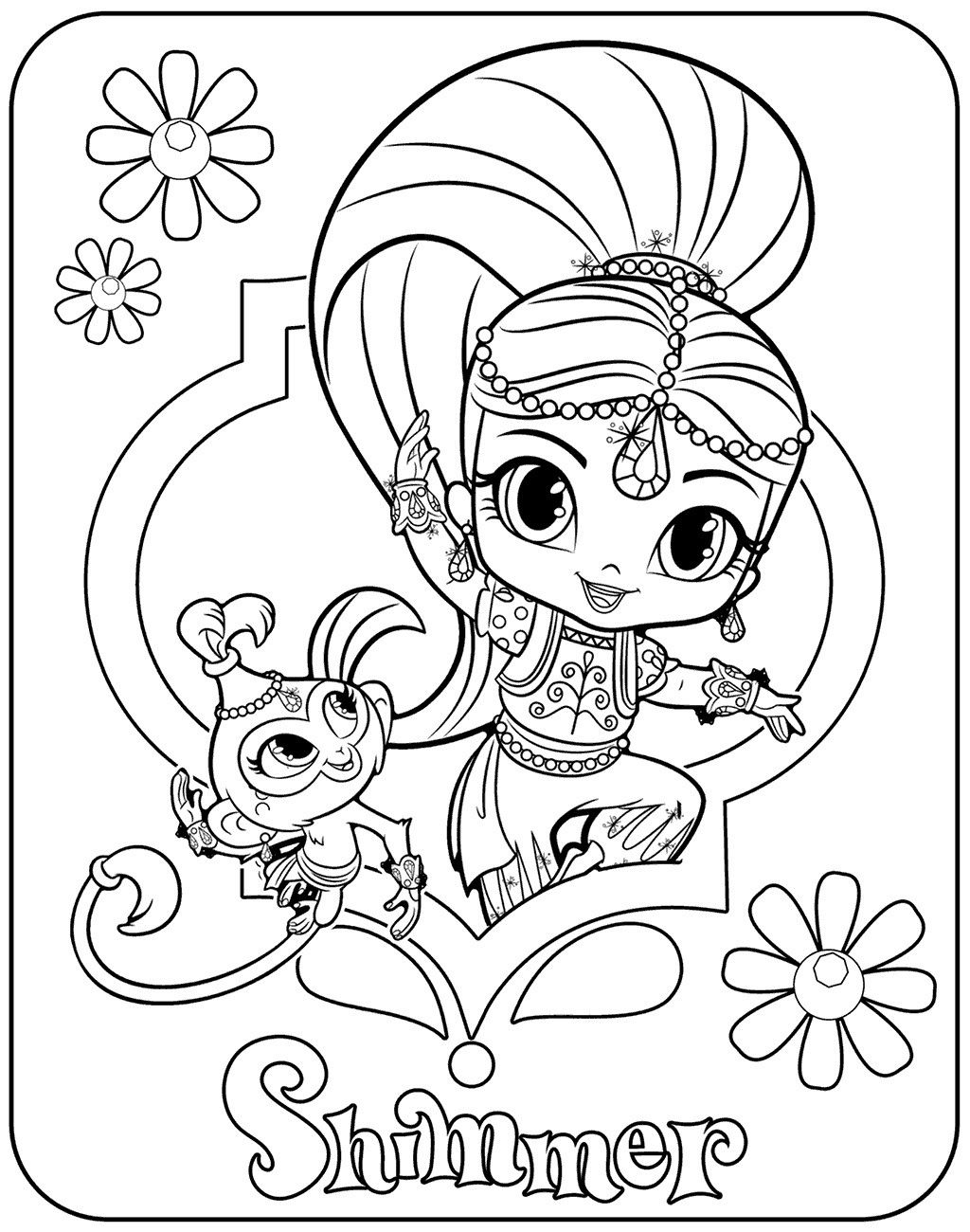 Shimmer Coloring Page