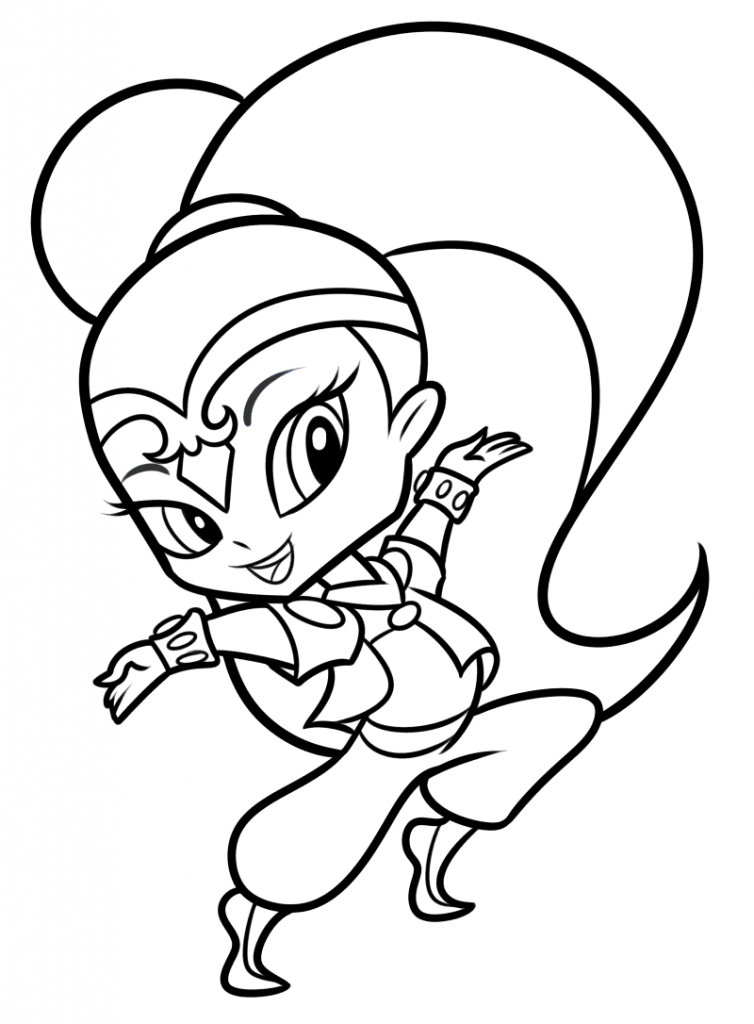 Shimmer and Shine Coloring Pages Shine