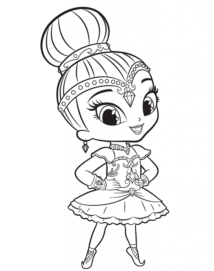 Shine Ready For Ballet Shimmer and Shine Coloring Pages