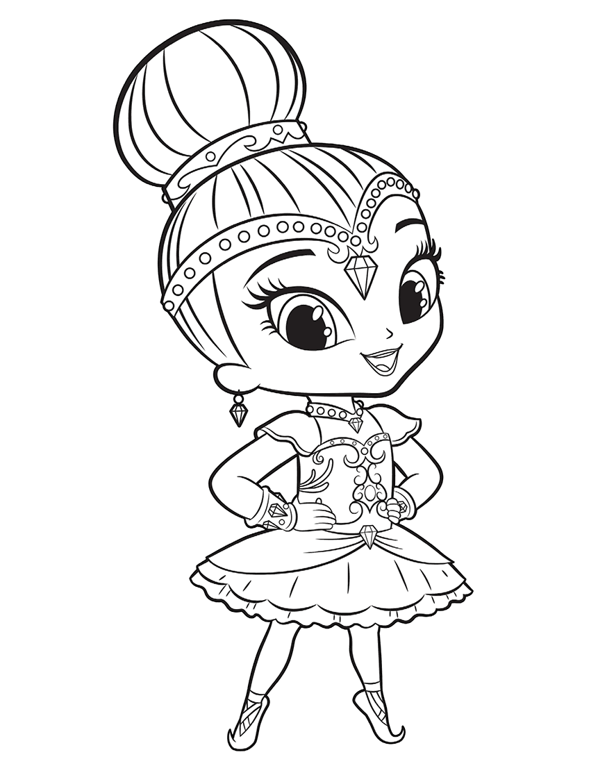 Shine Ready For Ballet Coloring Page