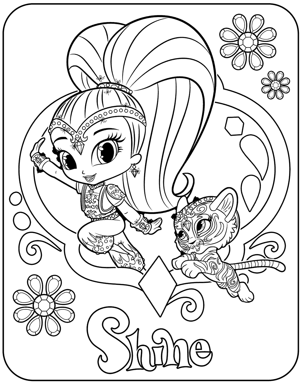 Shine With Nahal Coloring Page