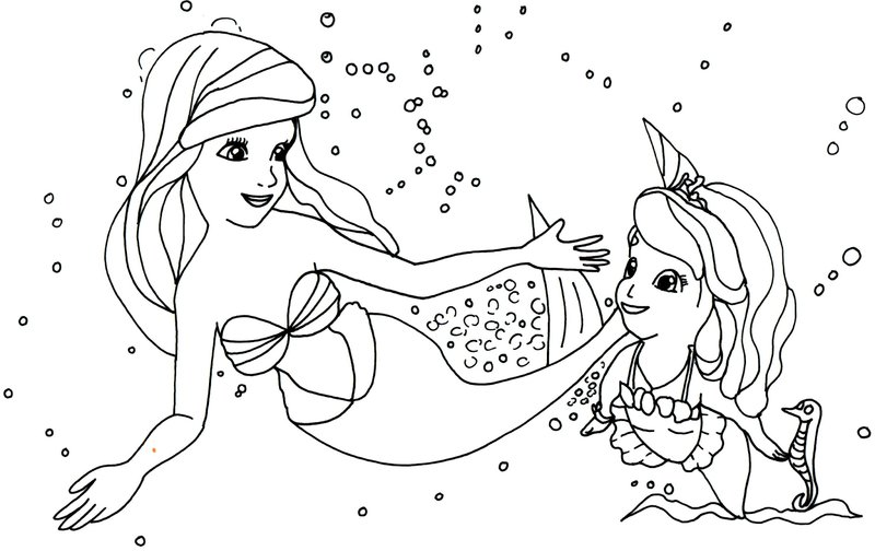 Sophia The First Mermaid Coloring Page