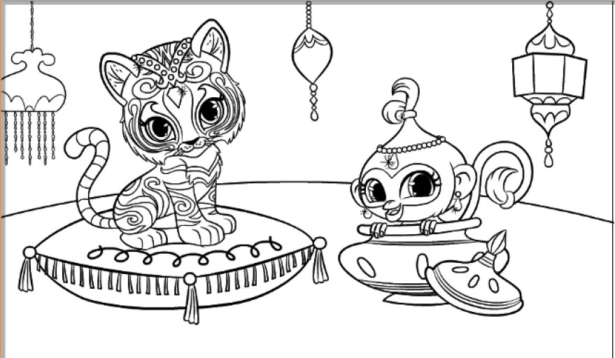 Tala And Nahal Shimmer and Shine Coloring Pages