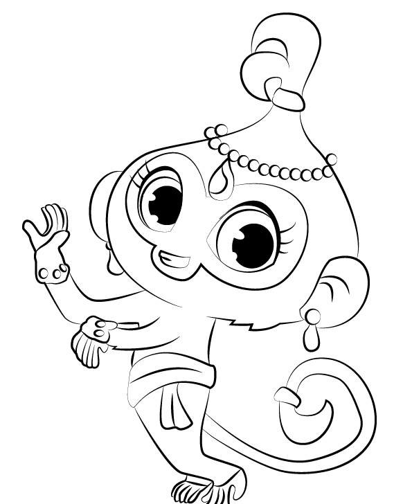 Shimmer and Shine Coloring Pages Tala