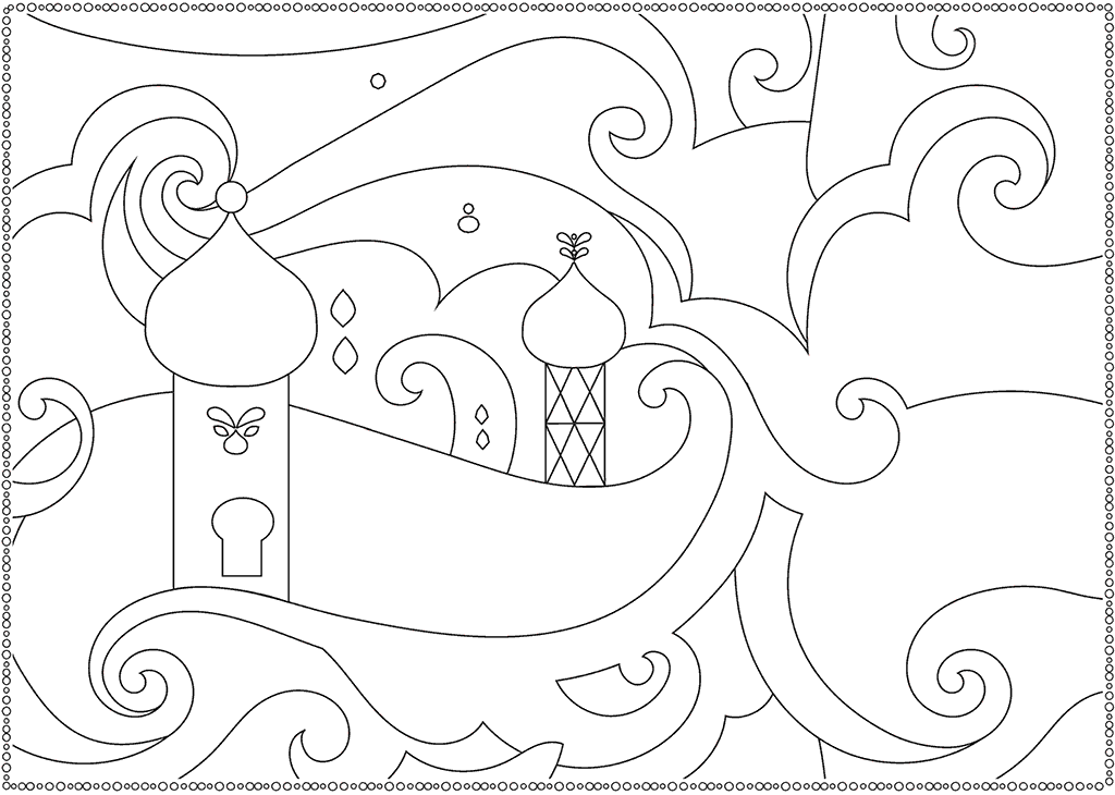 Shimmer And Shine Palace Coloring Page