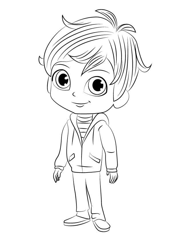 Shimmer and Shine Coloring Sheets Zac