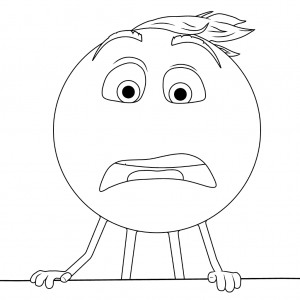 the emoji movie confused gene coloring page