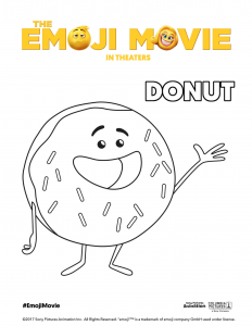 The Emoji Movie Donut Coloring Page
