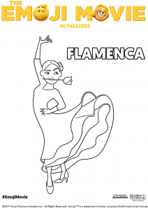 The Emoji Movie Flamenca Coloring Pages