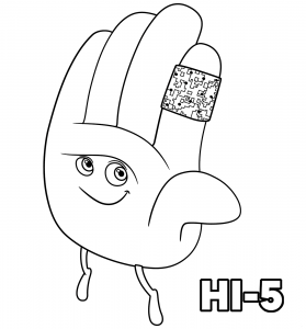 The Emoji Movie Hi 5 Coloring Pages