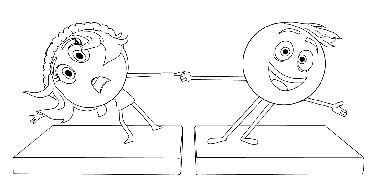 the emoji movie jailbreak and gene coloring page