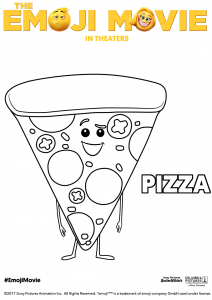 The Emoji Movie Pizza Coloring Pages