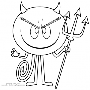 The Emoji Movie Devil Coloring Pages