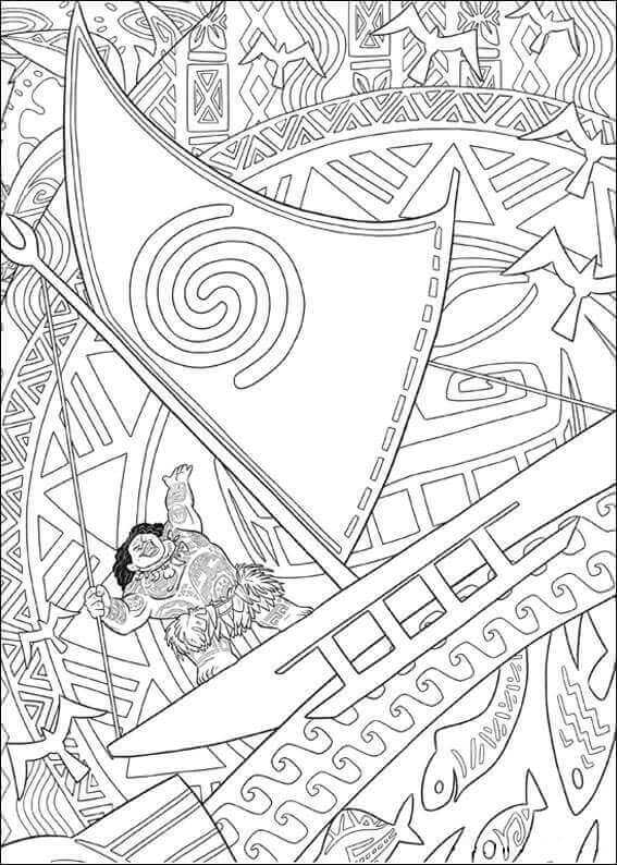 Mini Maui From Moana Coloring Pages