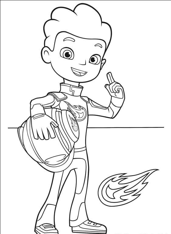 AJ From Blaze and the monster machines coloring pages