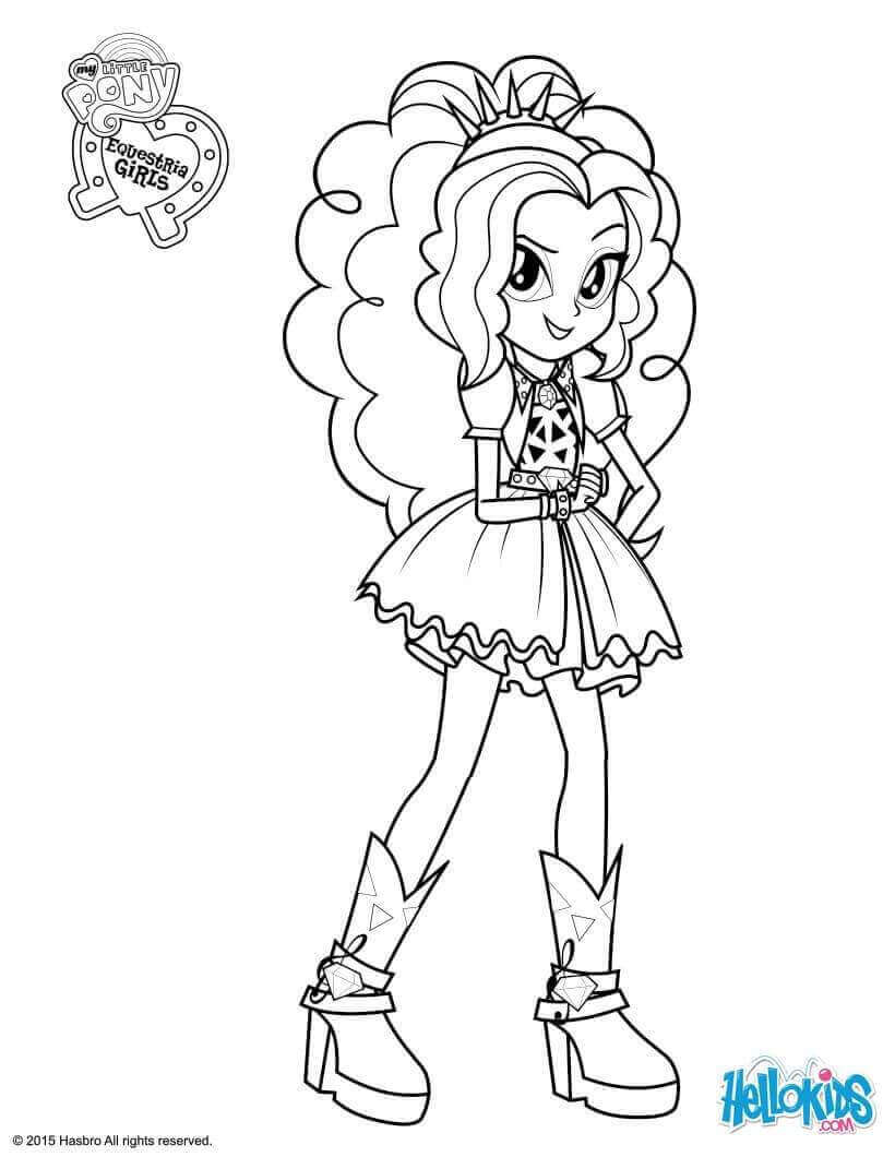 Adagio Dazzle From My Little Pony Equestria Girls Coloring Page