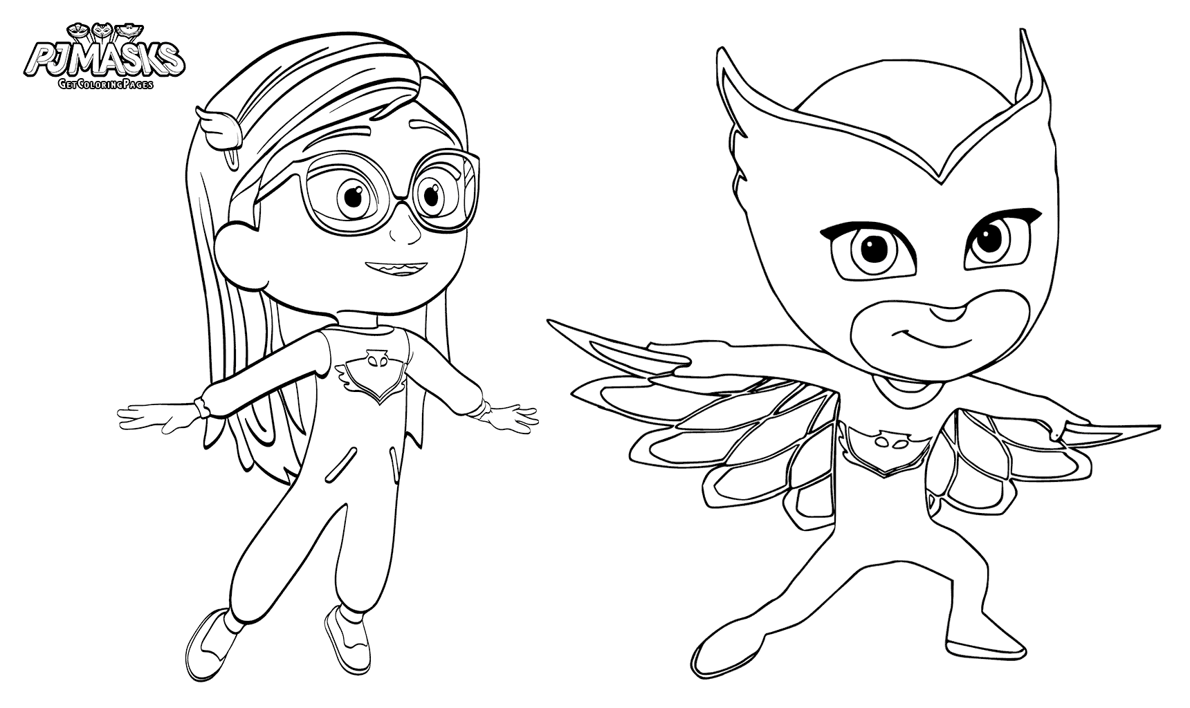 Amaya As Owlett PJ Masks Coloring Page