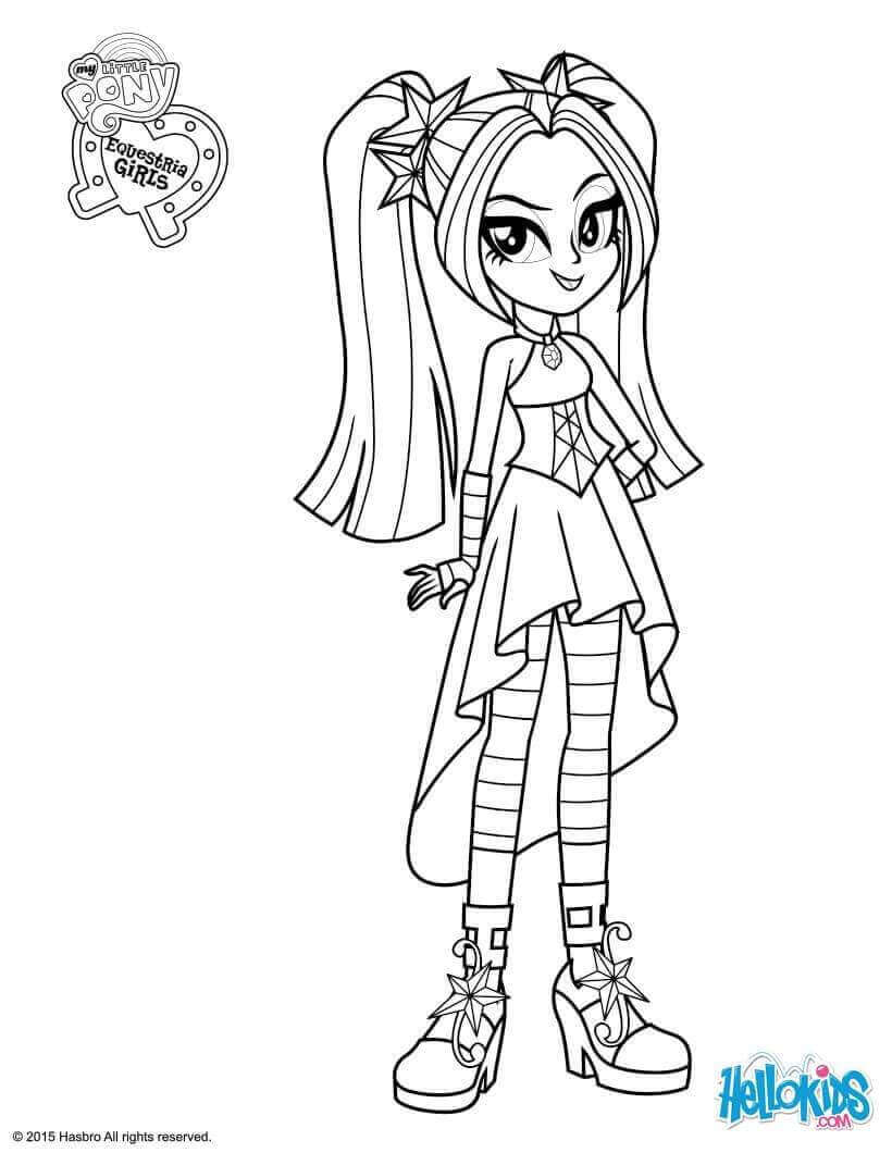 Aria Blaze From My Little Pony Equestria Girls Coloring Page