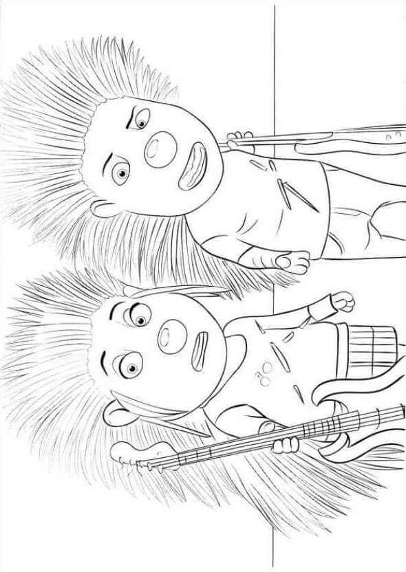 Ash And Lance Sing Coloring Page