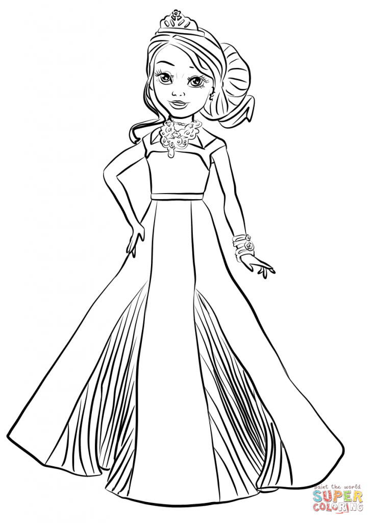 Disney 39 s descendants evie coloring pages disney 39 s best for Dove cameron coloring pages