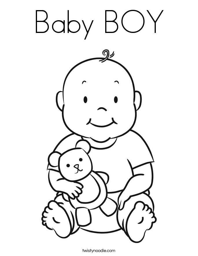 Baby Boy Coloring Page