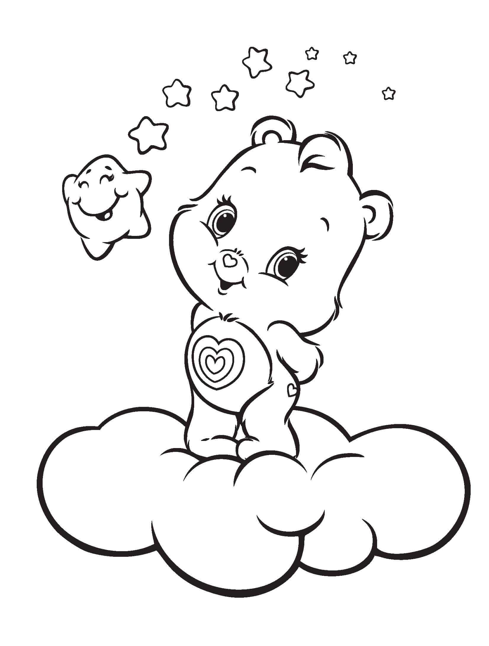 Baby Care Bear Coloring Page