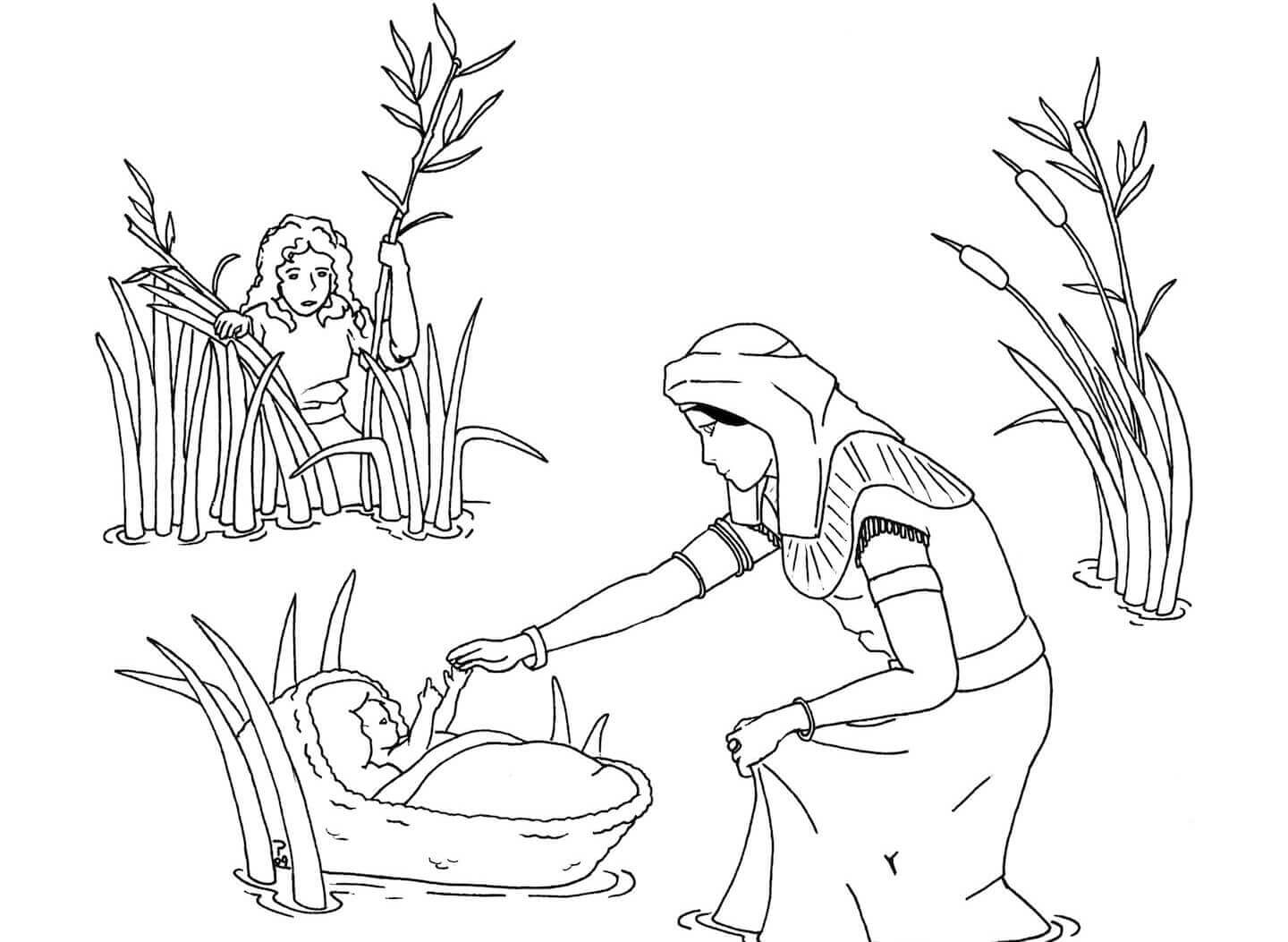 Baby Moses Coloring Pages
