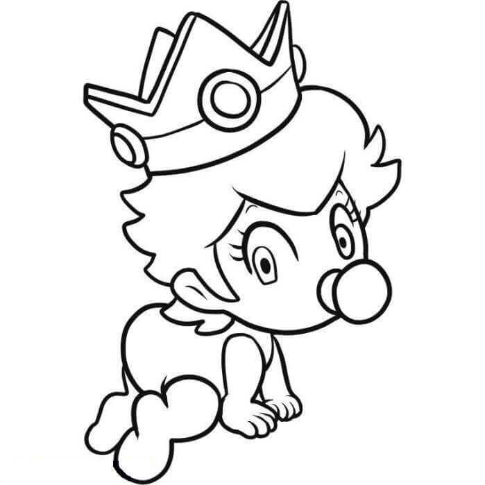 Baby Wearing A Crown Coloring Page
