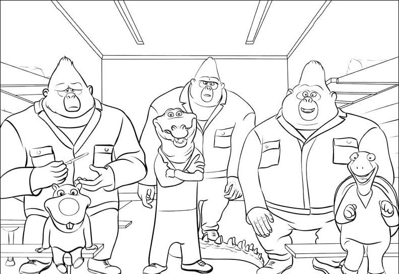Big Daddy Marcus And His Gang Sing Movie Coloring Page