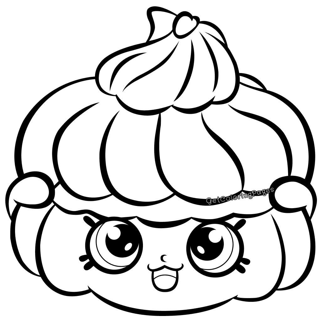 Bitzy Biscuit Shopkins Season 7 Coloring Page