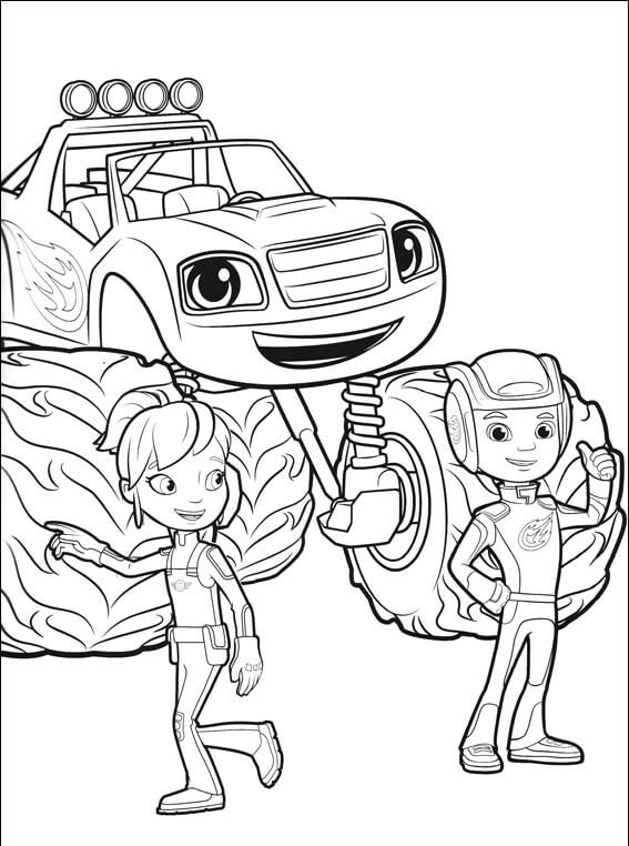 Top 31 Blaze And the Monster Machines Coloring Pages ...