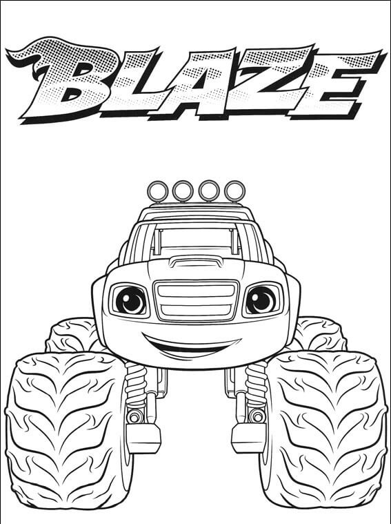 Nickelodeon Blaze Coloring Pages