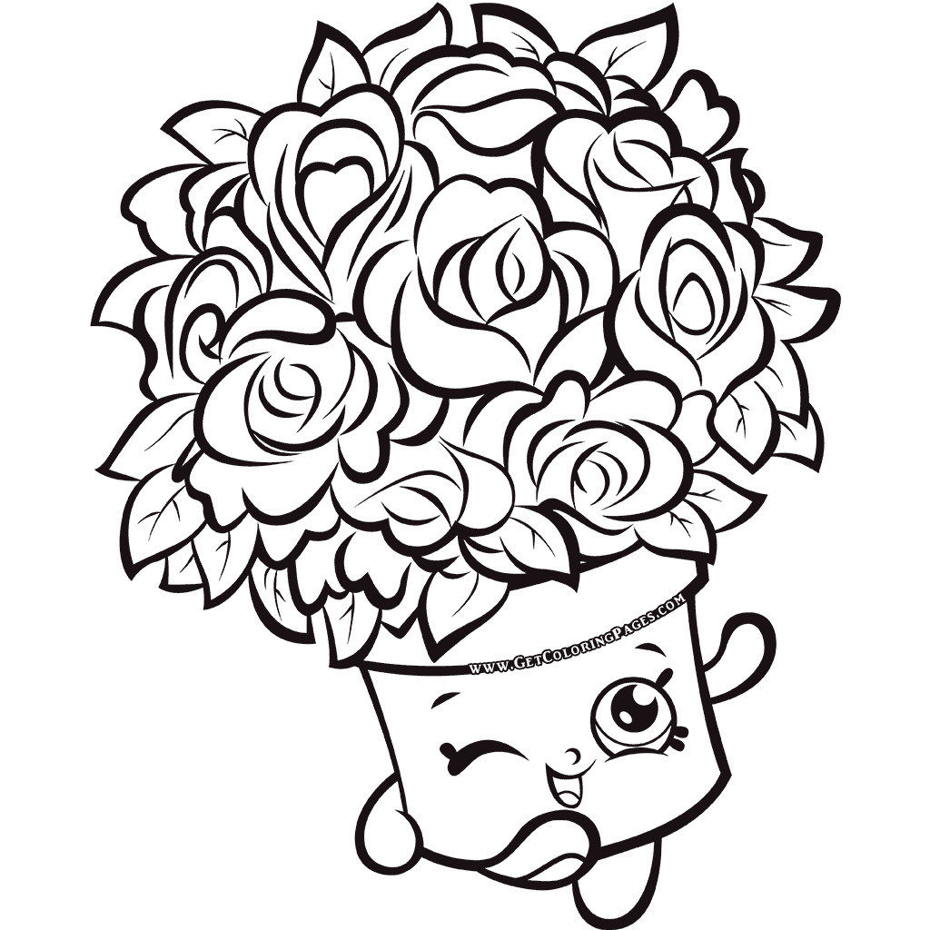 Bouquet Shopkins 7 Colouring Page