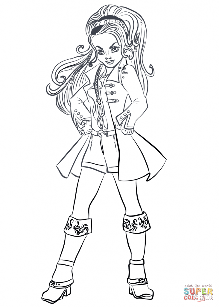 CJ Hook Descendants Wicked World Coloring Page