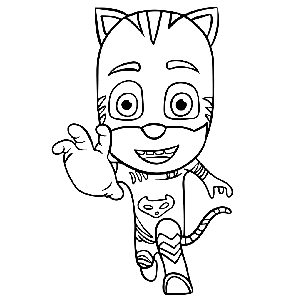 Catboy Coloring Page
