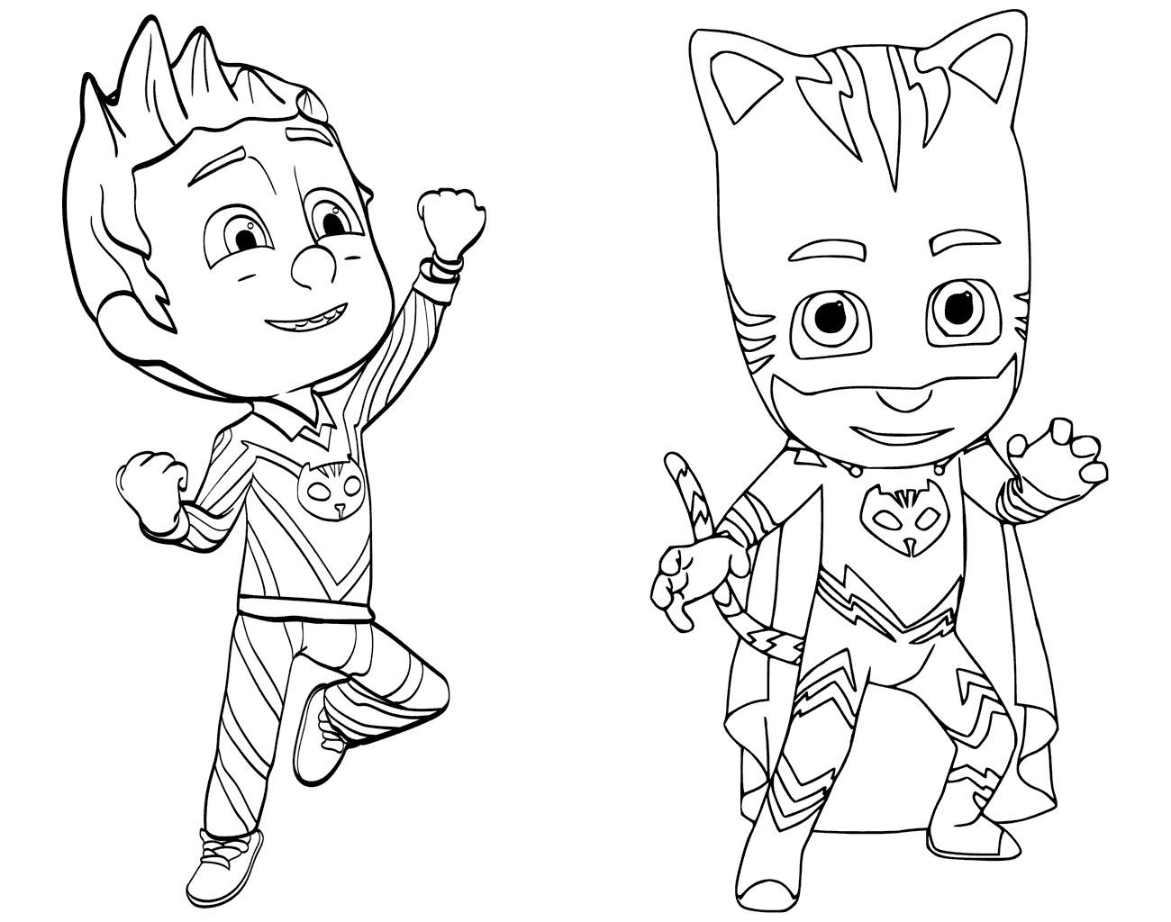 Connor AKA Catboy PJ Masks Coloring Page