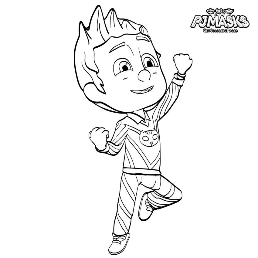 Connor PJ Masks Coloring Page