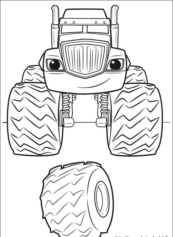Coloriage Blaze Pdf.Top 31 Blaze And The Monster Machines Coloring Pages