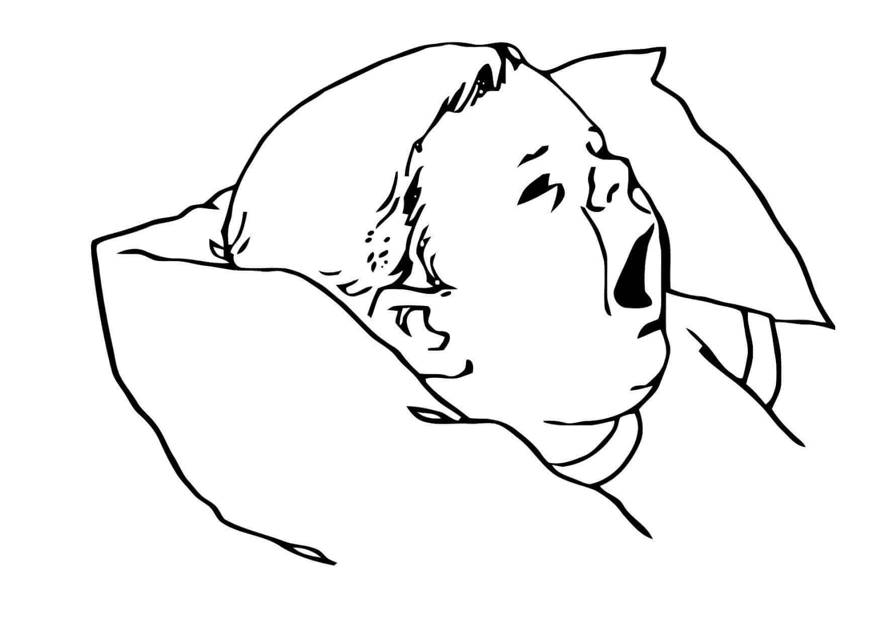 Crying Baby Coloring Page