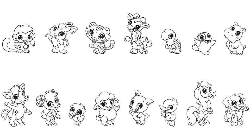 cute baby animal coloring pages - Coloring Pages Cute