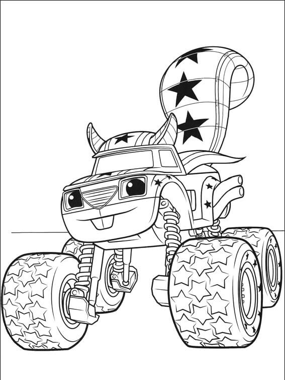 Darington Blaze and the monster machines coloring pages